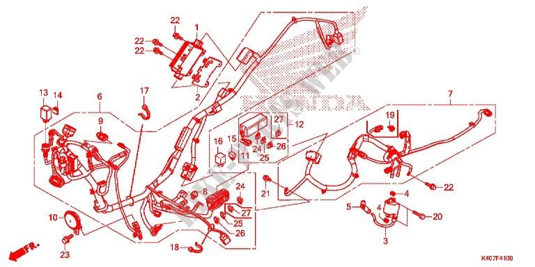 Wire Harness  Battery For Honda Forza 125 Abs 2016   Honda