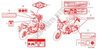 CAUTION LABEL (1) for Honda CB 650 F ABS TRICOLOR 2014