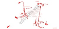 MAIN STAND   BRAKE PEDAL for Honda CB 650 F ABS TRICOLOR 2014