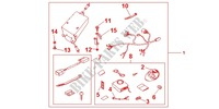 SECURITY KIT Honda motorcycle microfiche diagram CB1300SAA 2010 CB 1300 abs, fairing
