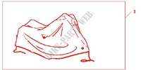 BODY COVER XL HONDA LOGO Honda motorcycle microfiche diagram CB1300SAA 2010 CB 1300 abs, fairing