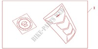 TANKPAD / FUEL LID COVER Honda motorcycle microfiche diagram CB1300SAA 2010 CB 1300 abs, fairing