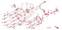 RIGHT CRANKCASE COVER Honda motorcycle microfiche diagram CB1300SAA 2010 CB 1300 abs, fairing