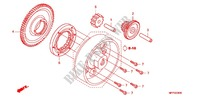 STARTING CLUTCH (C90MP/MT) Honda motorcycle microfiche diagram CB1300SAA 2010 CB 1300 abs, fairing