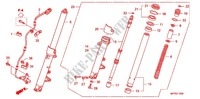 FRONT FORK/FRONT FENDER Honda motorcycle microfiche diagram CB1300SAA 2010 CB 1300 abs, fairing
