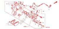REAR BRAKE CALIPER Honda motorcycle microfiche diagram CB1300SAA 2010 CB 1300 abs, fairing