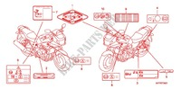 CAUTION LABEL (CB1300SA) Honda motorcycle microfiche diagram CB1300SAA 2010 CB 1300 abs, fairing