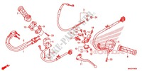 HANDLE LEVER/SWITCH/CABLE (1) Honda motorcycle microfiche diagram CBR1000RAF 2015 CBR 1000 RR ABS TRICOLORE