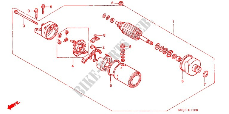 STARTING MOTOR for Honda CB 1300 2005