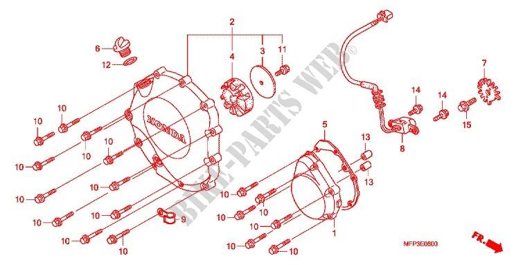 Right Crankcase Cover For Honda Cb 1300 Super Four 2008