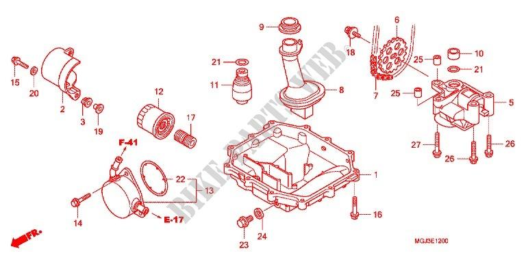 Oil Filter Oil Pan Oil Pump For Honda Cbf 1000 F Abs 98hp