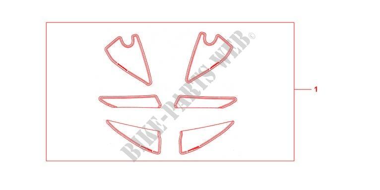 Kit Racing Sticker Accessories Cbr600rr7 2007 Cbr 600 Moto Honda