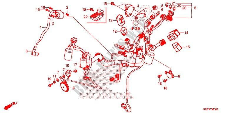 Wire Harness  Battery For Honda Msx 125 2013   Honda Motorcycles  U0026 Atvs Genuine Spare Parts Catalog