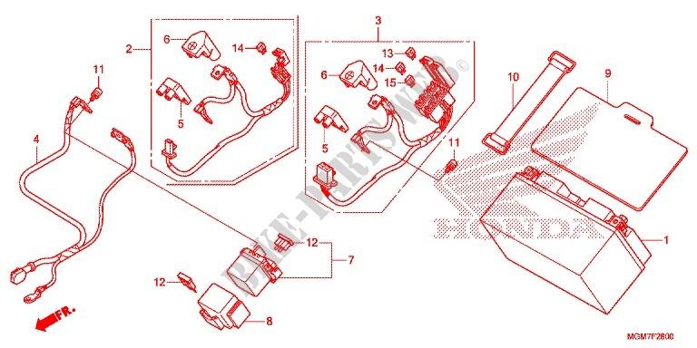 WIRE HARNESS/BATTERY for Honda CB 600 F HORNET ABS 2013 # HONDA Motorcycles  & ATVS Genuine Spare Parts CatalogBike Parts-Honda