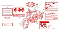 CAUTION LABEL (1) for Honda VT 1300 C FURY ABS 2011