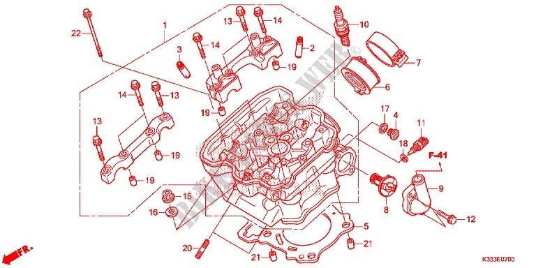cylinder cylinder head engine cbr250rg 2016 cbr 250 moto honda rh bike parts honda com