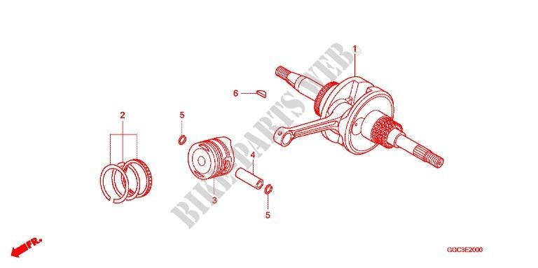 Crankshaft For Honda Scr 110 2014   Honda Motorcycles