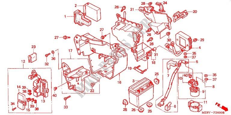 Wire Harness  Battery For Honda Vt Shadow 600 Kumamoto