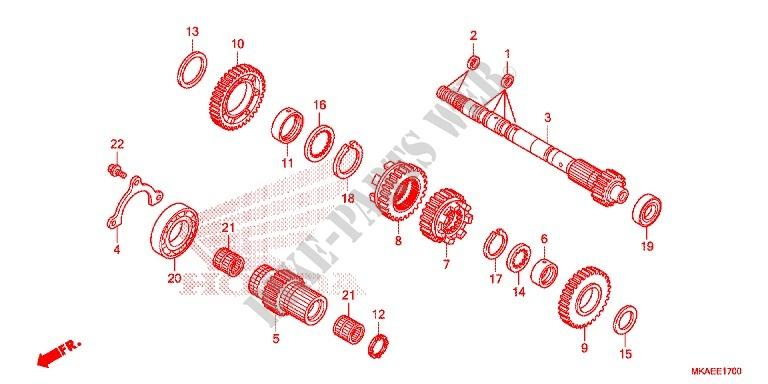 boite de vitesses arbre secondaire nc 750 integra nc750dg 2016 europe nc750dg honda. Black Bedroom Furniture Sets. Home Design Ideas