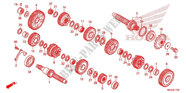 Gearbox  Nc750x  Xa  For Honda Nc 750 X 2016   Honda Motorcycles  U0026 Atvs Genuine Spare Parts Catalog