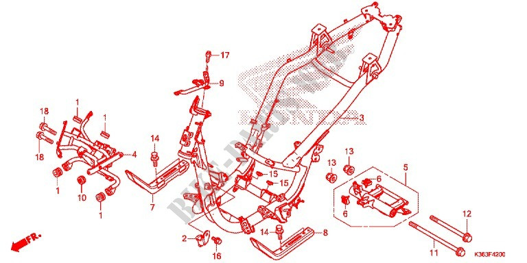 Frame For Honda Pcx 150 2016   Honda Motorcycles  U0026 Atvs