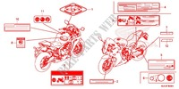CAUTION LABEL (1) Frame 650 honda-motorcycle CBR 2015 F_36