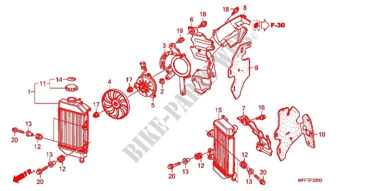 Radiator For Honda Transalp 700 Abs 2011   Honda