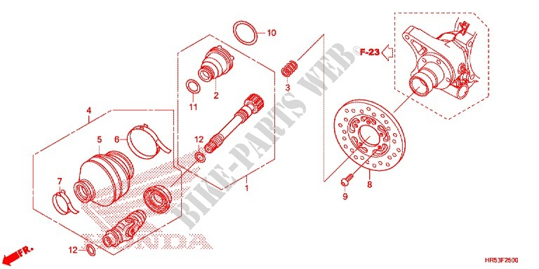REAR FORK/PROPELLER SHAFT (2) for Honda FOURTRAX 500 FOREMAN