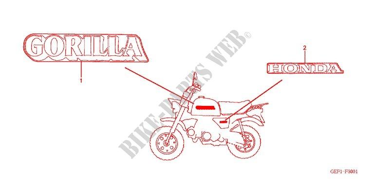 MARQUE Z50J1 4 5 Frame Z50J1 G 2001 Z50 50 MOTO Honda motorcycle ...