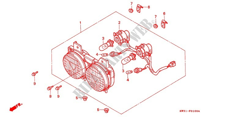 Honda Nx 650 Wiring Diagram : Honda dominator wiring diagram dual sport
