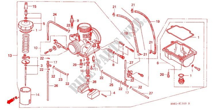 honda moto 250 crm 1991 crm250rm engine carburetor (2)