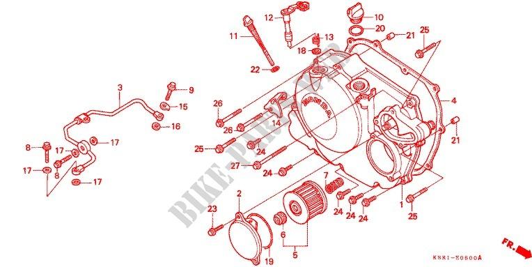 RIGHT CRANKCASE COVER Engine XL250M 1991 XL 250 MOTO Honda ... on
