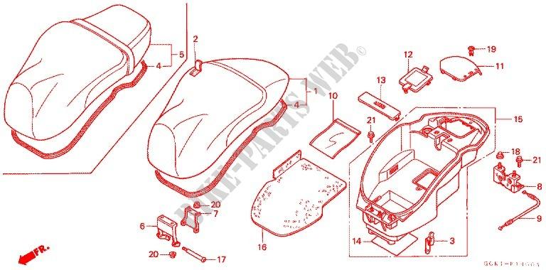 Seat luggage box frame srx90w 1998 other models 90 scooter honda honda scooter 90 autres modeles 1998 srx90w frame seatluggage box swarovskicordoba Choice Image