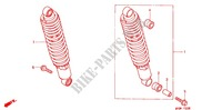 REAR SHOCK ABSORBER (2) for Honda CB 500 1996