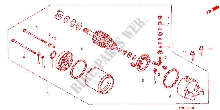 STARTER MOTOR for Honda CB 500 1996