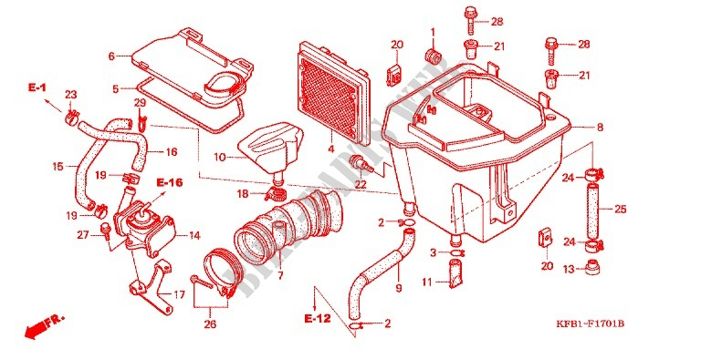 Filtre A Air Sl230x 1 4 Frame 1999 Sl 230 Moto Honda. Honda Moto 230 Sl 1999 Sl230x Frame Filtre A Air. Honda. Honda Element Frame Schematic At Scoala.co
