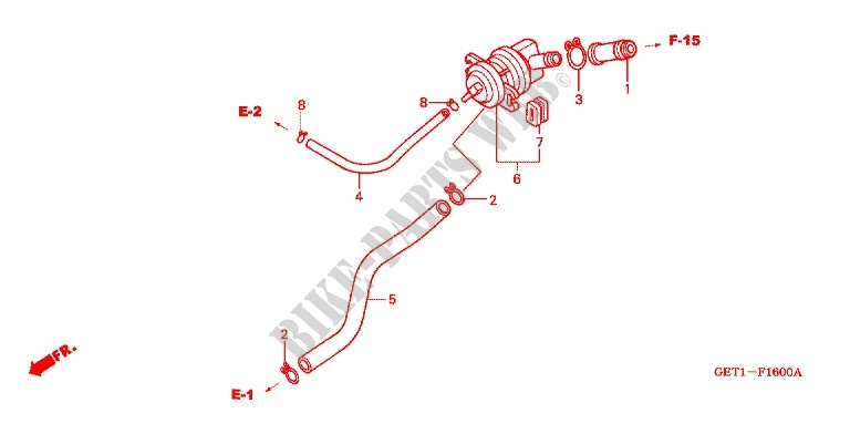 AIR INJECTION VALVE Frame CHF501 2001 SCOOPY 50 SCOOTER Honda ...