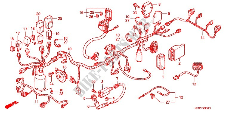 Wire Harness  Nss250y 1  For Honda Forza 250 2001   Honda