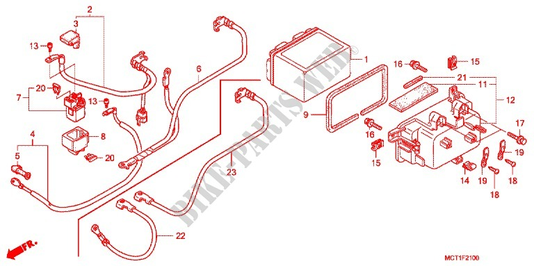 Magnificent Wire Harness Battery Frame Fjs600A3 2003 Silverwing 600 Scooter Wiring Digital Resources Otenewoestevosnl