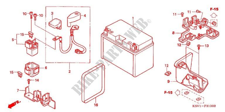 Wire Harness  Battery For Honda Forza 250 Z 2004   Honda
