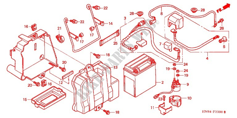 Wire Harness  Battery For Honda Fourtrax 650 Rincon 2005