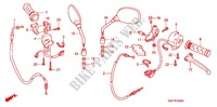 HANDLE LEVER/SWITCH/CABLE (1) Honda motorcycle microfiche diagram CBF125MB 2011 CBF 125