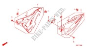 AIR CLEANER/SIDE COVER Honda motorcycle microfiche diagram CBF125MB 2011 CBF 125