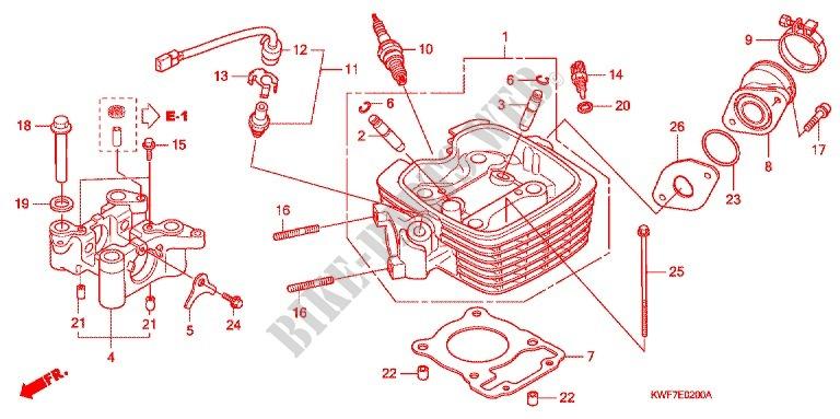 honda 125 motorcycle engine diagram cylinder cylinder head for    honda    cbf    125    2009    honda     cylinder cylinder head for    honda    cbf    125    2009    honda