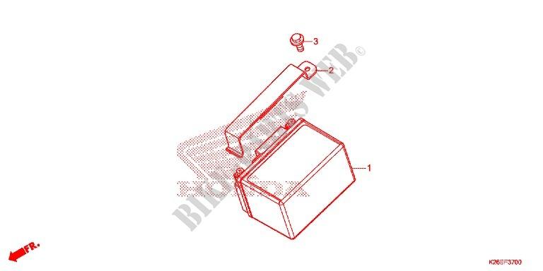 Tools Battery Box For Honda Msx 125 2016   Honda