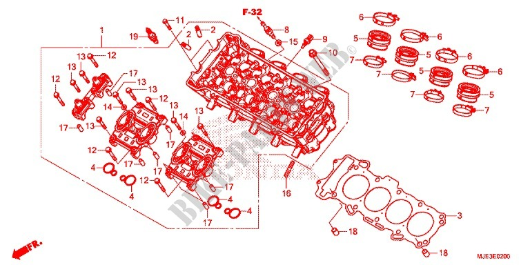 CYLINDER   HEAD for Honda CBR 650 F ABS 2016