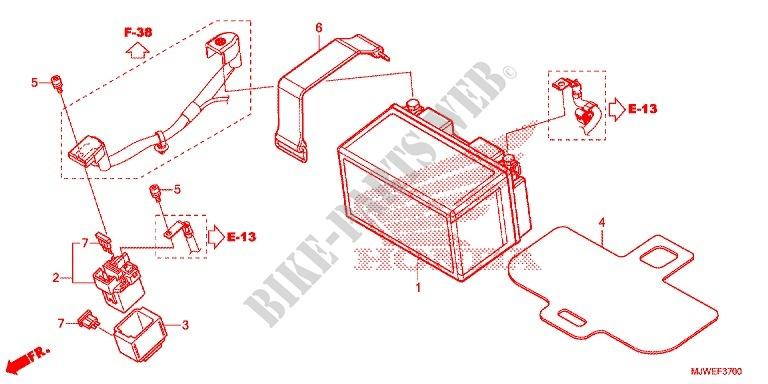 Wire Harnessbattery Cbr 500 R Abs Cbr500rag 2016 Italia