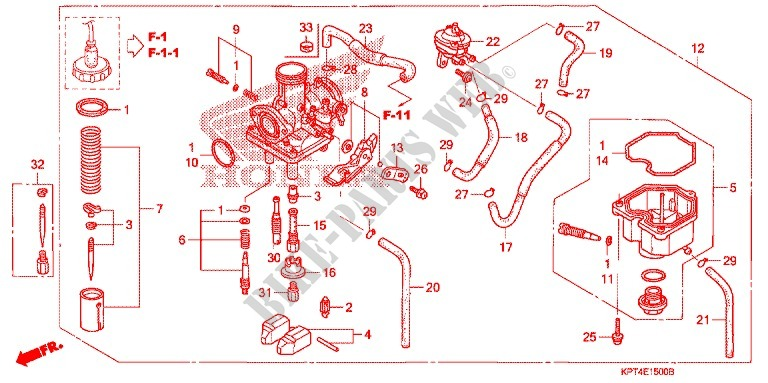 Honda Crf150f Carburetor Diagram