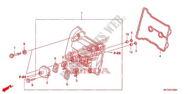 Cylinder Head Cover For Honda Crf 70 2007   Honda Motorcycles  U0026 Atvs Genuine Spare Parts Catalog