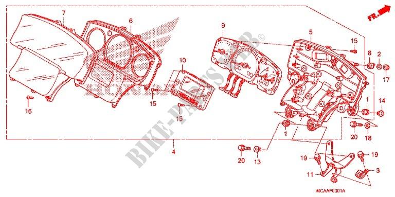 honda moto 1800 gold-wing 2007 gl18007 frame --- compteur (gl1800'